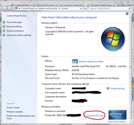Windows 7 Enterprise Product Keygen